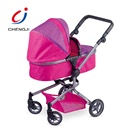 High quality iron trolley set pretend baby stroller aluminium for doll