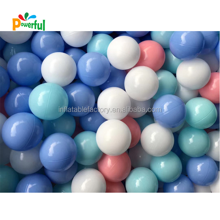 Wholesale Plastic Ocean Ball Pit Soft Play balls,colorful children play plastic balls