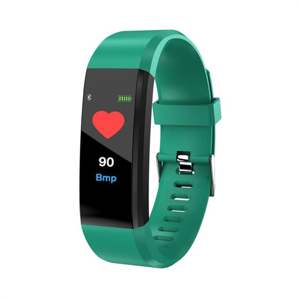 ID115 плюс цвет экран умный Браслет спортивный шагомер часы Фитнес Бег Прогулки трекер сердечного ритма шагомер Smart Band