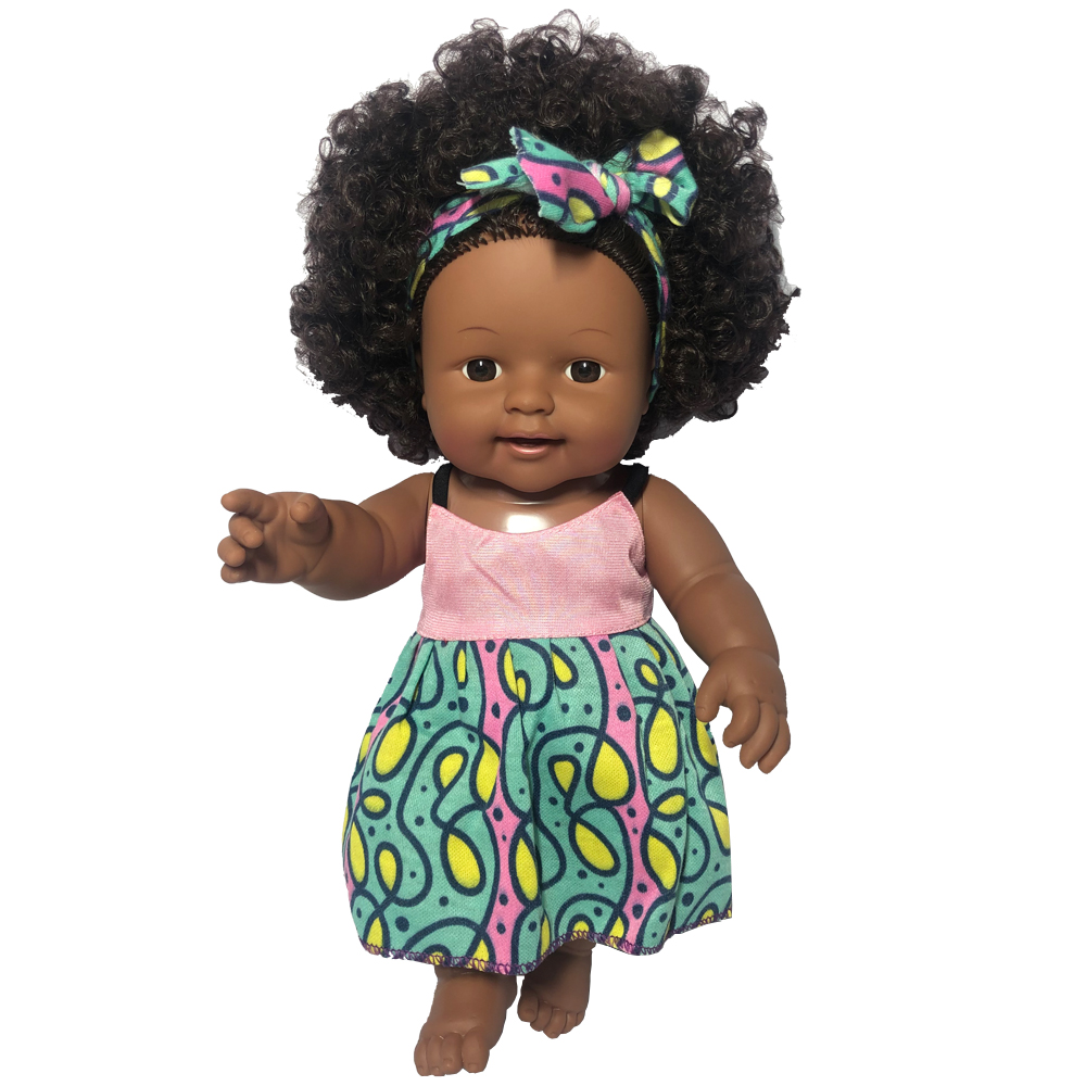 Alive reborn baby toy <strong>doll</strong> girl black skin American African <strong>dolls</strong> with afro hair