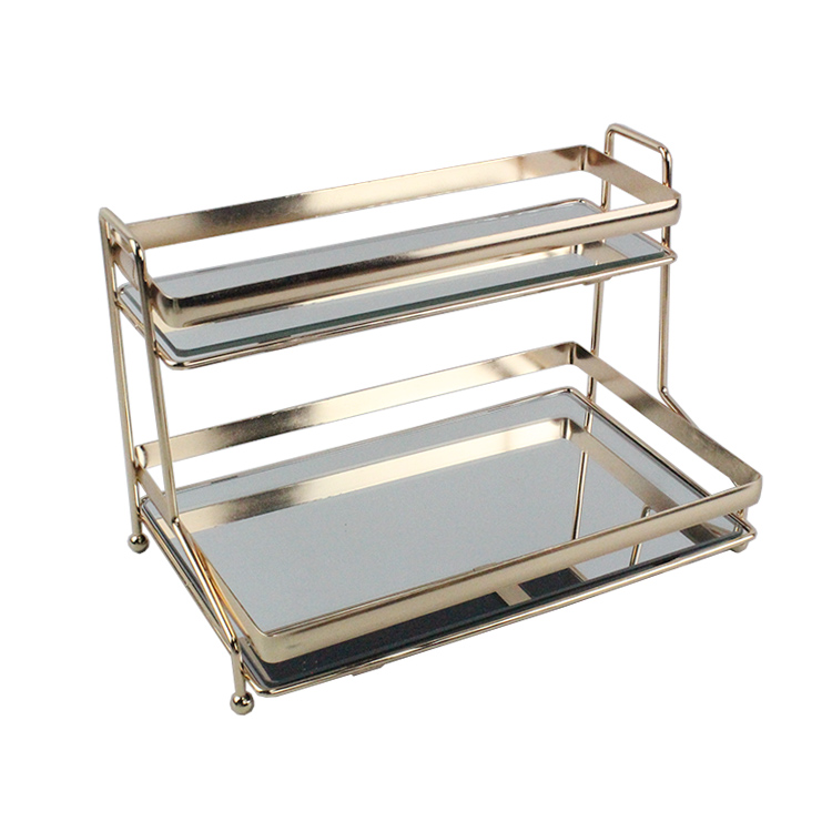 RTS hot sale 2020 chrome plated round stable standing tray round serving tray,perfume tray,china tray