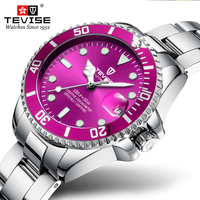 Tevise New Arrival T801L Rollex luxury ladies watches women wristwatch quartz watch stainless