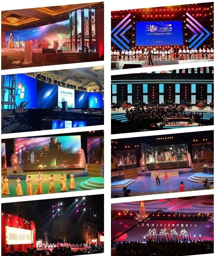 HD rental Led panel P3.91 Rgb Smd 1921 Screen Display outdoor p4.81 led video wall for stage background