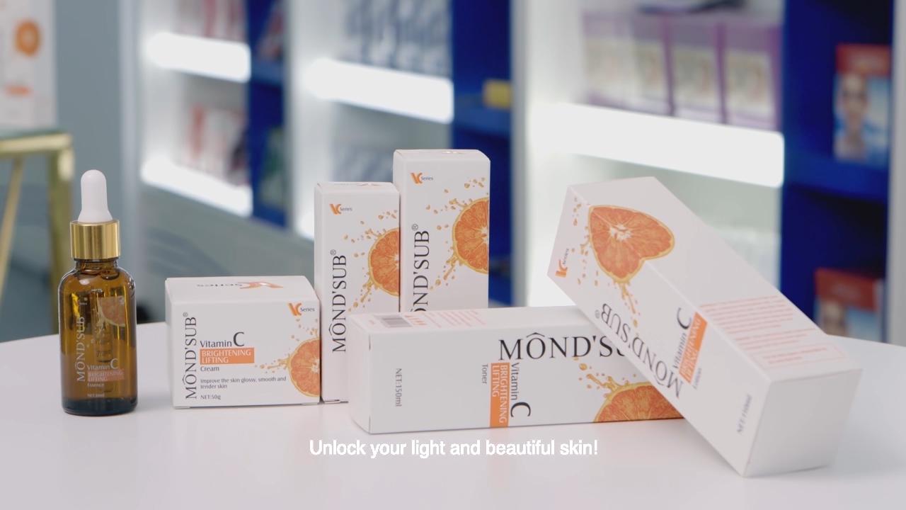 Private Label Natural Organic Skin Pore Cleanser Vitamin C Brightening Lifting Facial Cleanser