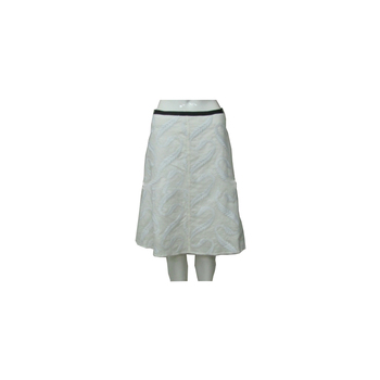 Plain Color Block Youth Pleated Long Skirt With Black Waist Band