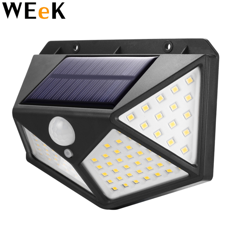 Solar Power Light Outdoor 100LED PIR Motion Sensor Wall Light Lantern Waterproof Yard Security Lamp Garden Yard Drivew