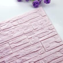 Кирпичные 3D обои, пенопластовые обои, самоклеящиеся панели, наклейка для гостиной, украшение из камня, рельефная настенная бумага 60*30 см(Китай)