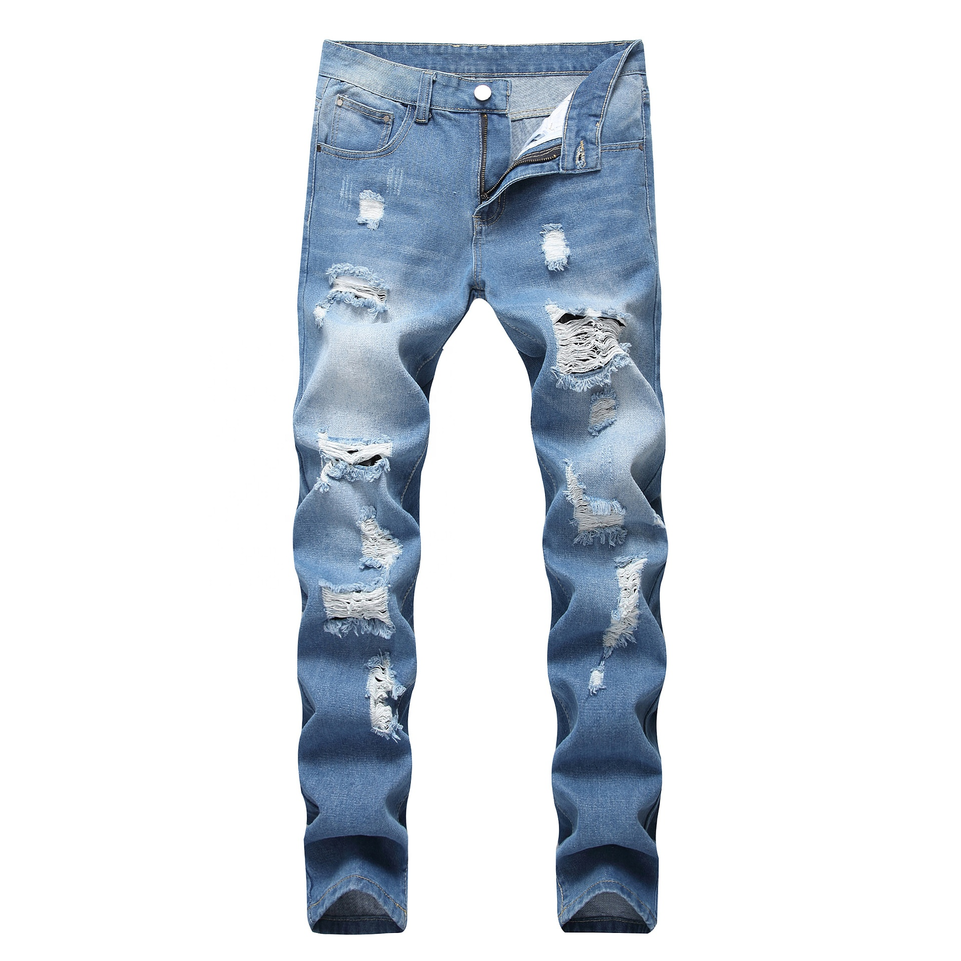Ballena Azul Invalido Excelente Pantalones Rotos De Moda Para Hombre Ocmeditation Org