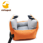 Pet Car Seat Deluxe Travel Bed Dog Booster Car Seat Premium Quality with Clip-on Safety Leash Dog Bed Lounge