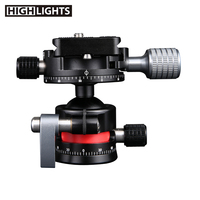Hot Sale 1/4 Male 3/8 Female Thread Camera Phone Tripod Mount Multiuse Light Ball Head