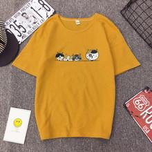 Женская футболка с принтом elimiya, модная футболка в стиле Харадзюку 90s, Милая футболка с графическим рисунком, корейский стиль, женские футбол...(China)