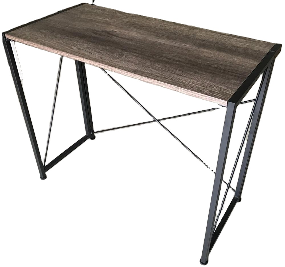 Modern Simple Industrial Style Folding <strong>Laptop</strong> <strong>Table</strong> for Home Office