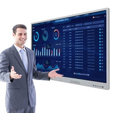 Lage <span class=keywords><strong>kosten</strong></span> interactieve 4G whiteboard WIFI dual systeem LCD touch screen Digital signage