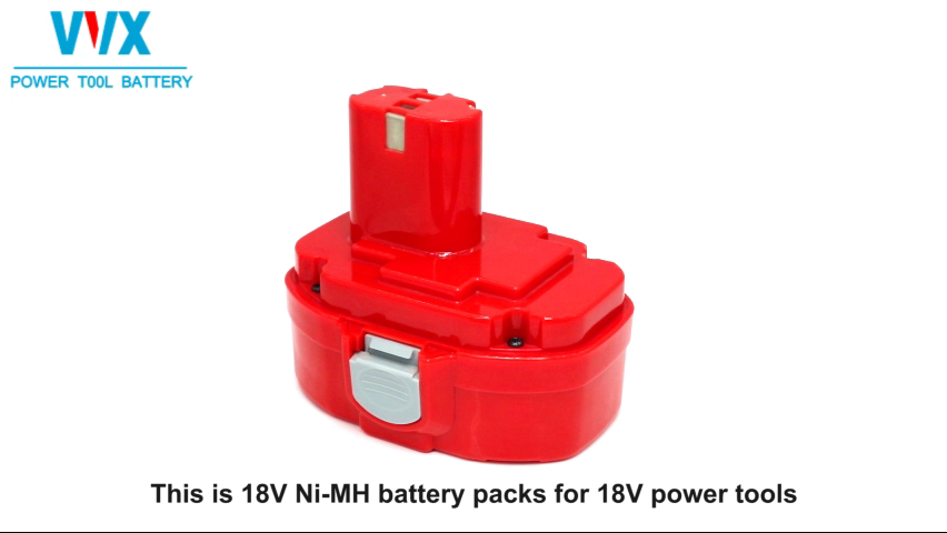 High quality red 18V 3ah portable power tool batteries rechargeable nimh battery