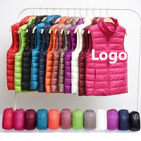 Sample Available Wholesale Packable Super Light Ultralight Western Classic Unisex Familly Kids Women Man Mens Duck Down Vest
