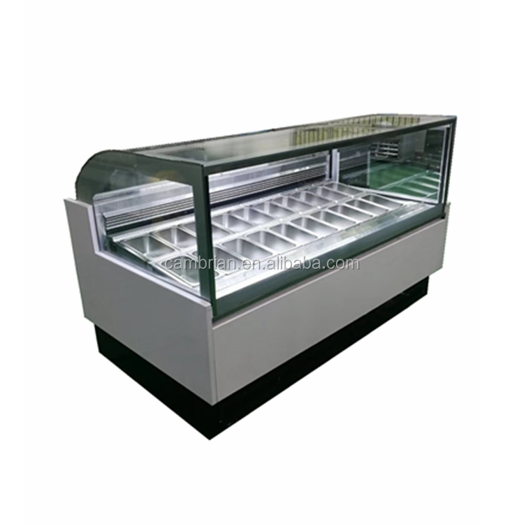 New design cheap price ice cream display cabinet for sale