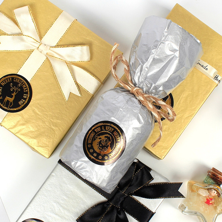 Custom gold and silver packing tissue paper, rose gold gift wrapping paper