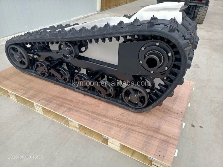 tracked chassis with remote controller/full tracked chassis, rubber track undercarriage,Hydraulic Rubber Track Chassis