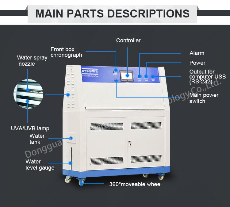 ASTM D 4329 UV Invecchiamento Tester Camera Lab Gomma UV Agli Agenti Atmosferici Tester