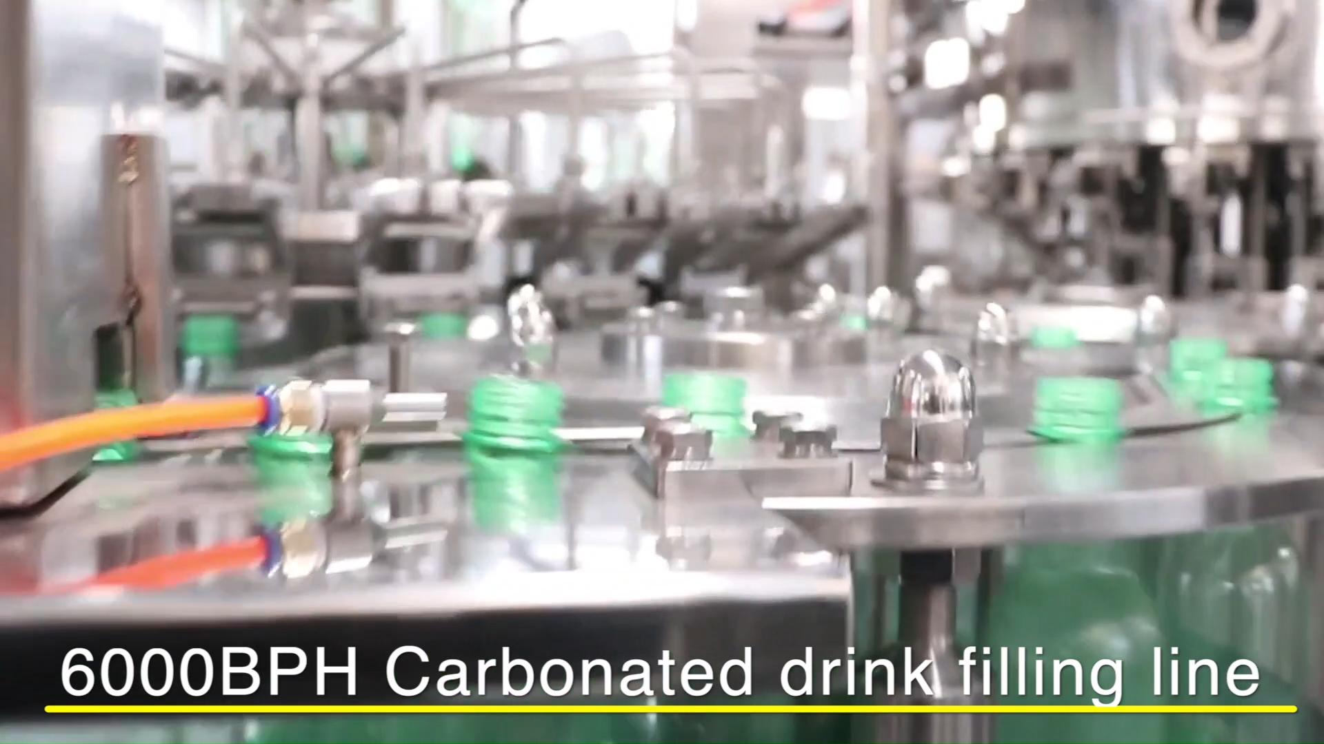 Alta qualidade equipamento de engarrafamento carbonatadas bebida energética