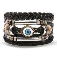 VKME браслеты в богемном стиле и браслеты для женщин и мужчин многослойные кожаные браслеты, бижутерия, винтажный этнический подарок(Китай)