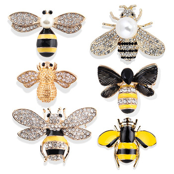 Korean fashion mini cute little bee wasp insect female accessories factory direct brooch pin
