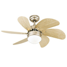 Home appliance small fans 6 Blades 30inch decorative lighting soundless mini kids ceiling fan with light