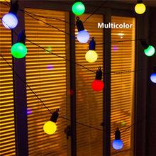 15 м 50 светодиодный глобус вечерние рождественские гирлянды светильник 6 м 20 светодиодный USB Conector молочный/прозрачный винтажный лампы декора...(Китай)