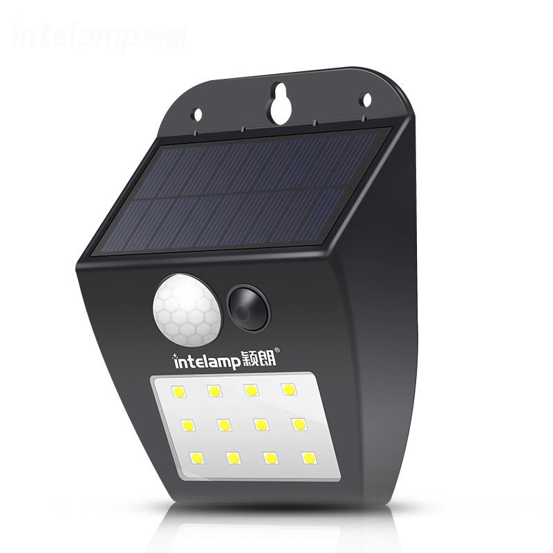 12 LEDs 태양 모션 센서 조명 무선 보안 조명, 방수 태양 강화한 단계 마당 차고 베란다 안뜰