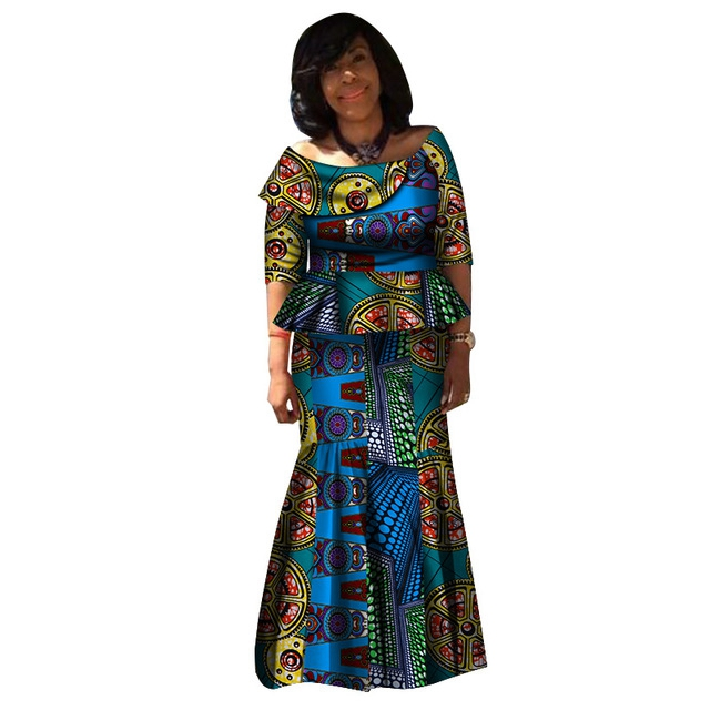 Bulk Top and Skirt Sets African Women Clothing WY3278 фото