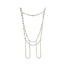 Женское длинное ожерелье [EAM], белое ожерелье ручной работы с жемчугом и разрезом, новое темпераментное модное универсальное ожерелье весна-...(Китай)