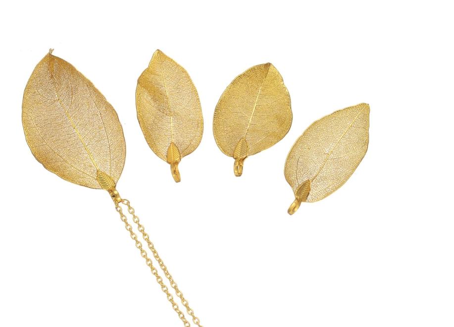 Jovens Meninas Melhor Presente Mulheres Mergulhado Projetos Brinco de Oscilação Gota Natureza REAL de Moda Novo Modelo 24 k Brincos De Folha De Ouro jóias