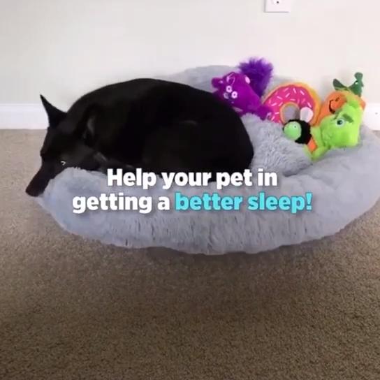 Di lusso Morbido Peluche Ciambella Pet Letto Riscaldamento Invernale Gatto Cuscino del Divano Grande Cane Soffice Letto camas para perros