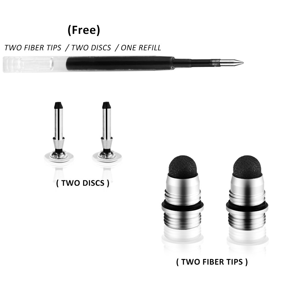 2 in 1 Precision Disc and Hybrid Fiber Stylus  Styli with 4 Replacement Discs Fiber Tips 2 Pack