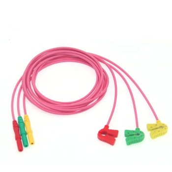 YKD ECG leadwire DIN type HOLLTER line three guide AHA  newborn small clip line