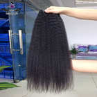 30 inch remy indian human hair afro kinky straight weft with iqueenla hair