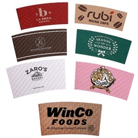 Hot Selling Kraft Paper Disposable Cup Sleeve