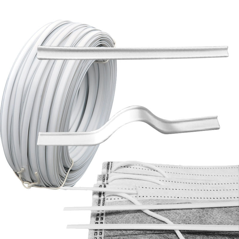 Factory direct white metal single and double core nose bridge clip holder <strong>wire</strong> for medical facemask