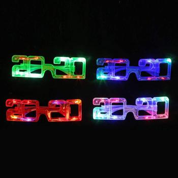 2020 New Year LED Light Up Glasses Glow In The Dark Glasses For Christmas Party Supplies