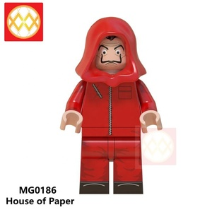 HOT SALE! MG0186 House Of Paper professor Bank robber TV characters Building Blocks Mini Bricks for Children friends t legoingly