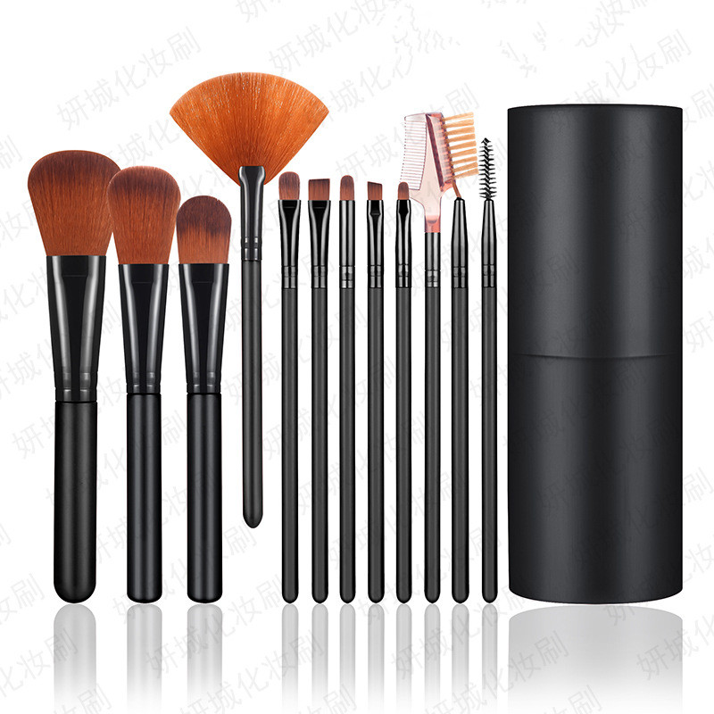 Hot Sale Cheap Wholesale Printed Logo <strong>High</strong> <strong>Quality</strong> 12pcs <strong>Makeup</strong> <strong>Brushes</strong> Professional <strong>Makeup</strong> <strong>Brush</strong> Set Luxury <strong>Brushes</strong> With Box