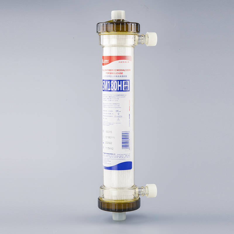 Disposable Medical Hemodialysis SM180H Hollow Fiber Dialyser