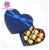 unique high quality premium luxury customized empty heart shaped chocolate favour gift heart packaging box with clear window