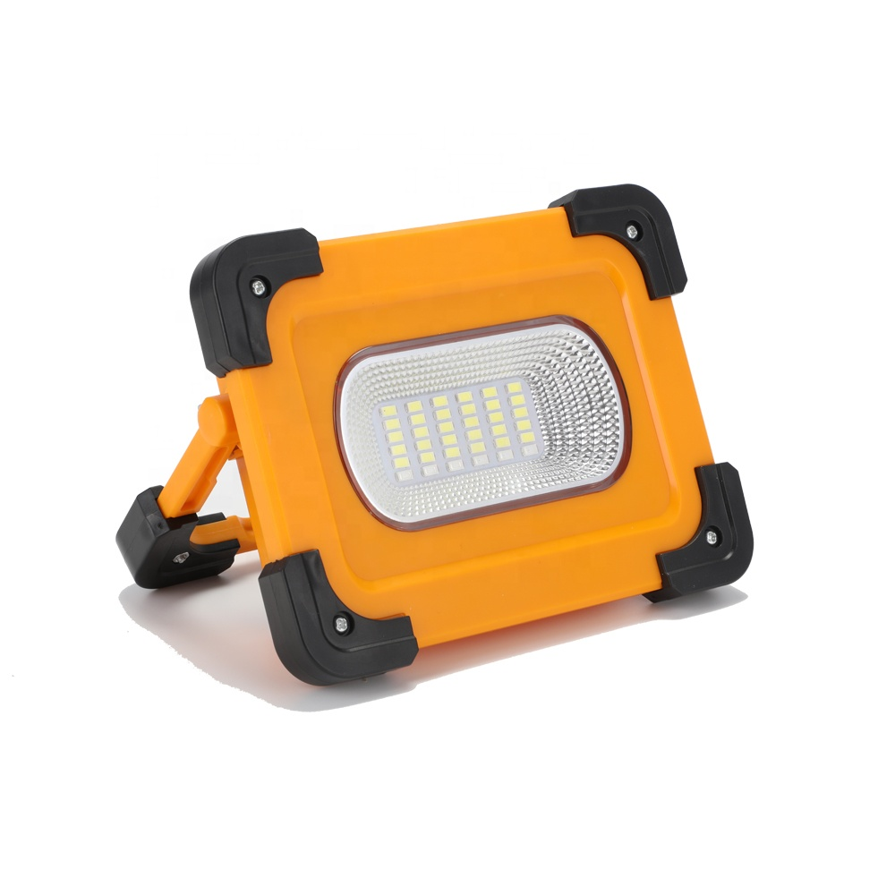 New Arrival 42 LED White red blue light Foldable USB Rechargeable Solar power work light with magnets on both sides