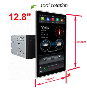 KD-1280 hot sell tesla Android 8.1 PX6 4+32G support voice control car balance detection universal car radio