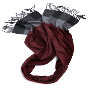 Plaid classic soft luxurious cashmere scarf infinity scarf for men women