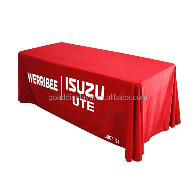 6ft Customized Full Color Table Cloth for Christmas