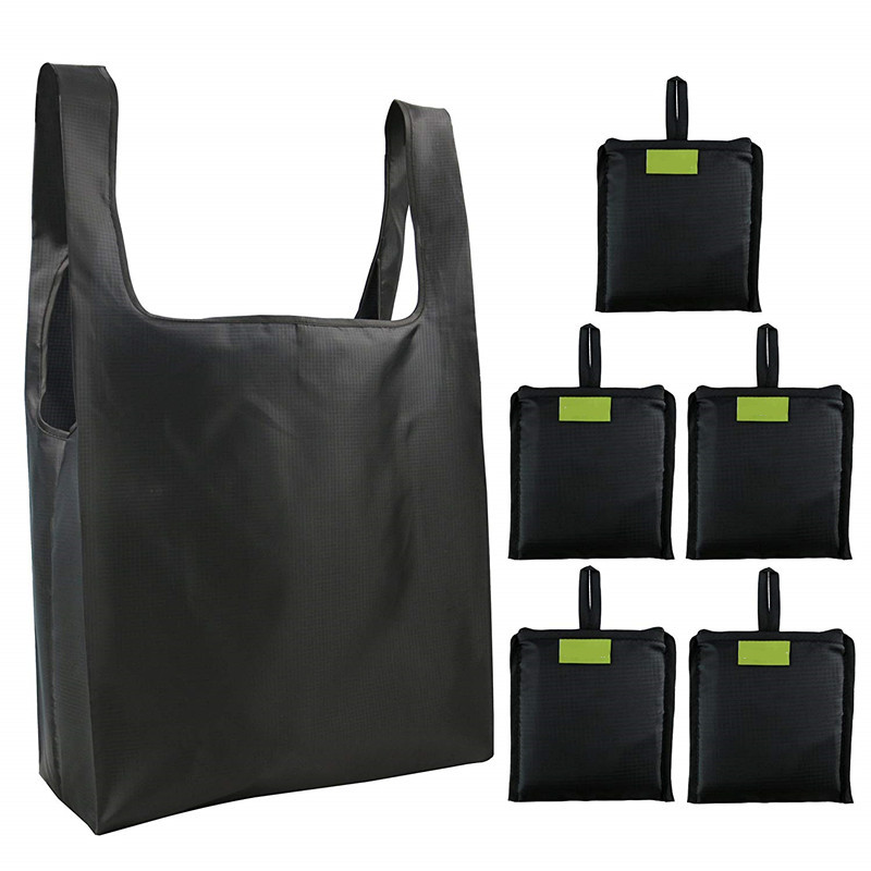 Waterproof Foldable Reusable Ripstop Oxford Shopping Grocery Tote Bag with Handles Heavy Duty Lightweight