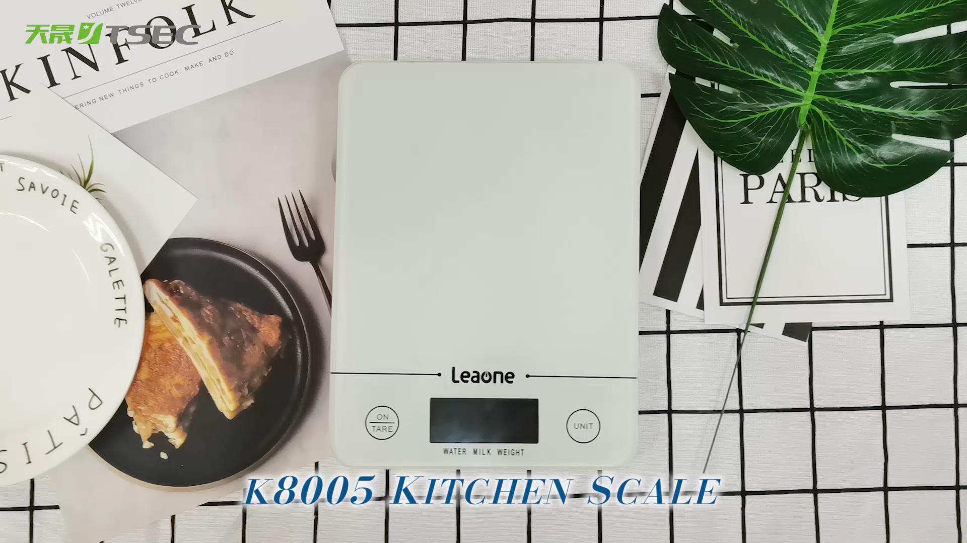 주방 규모 건강 식품 야채 무게 강화 유리 ABS 가정용 주방 전자 저울