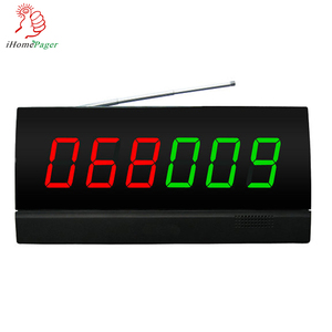 Restaurant equipment screen  receiver with color nixie tube diapaly and  English voice report